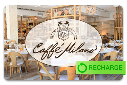 Recharge your Caffe Milano Card